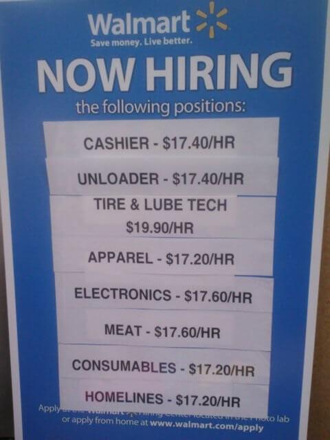 walmart high wages