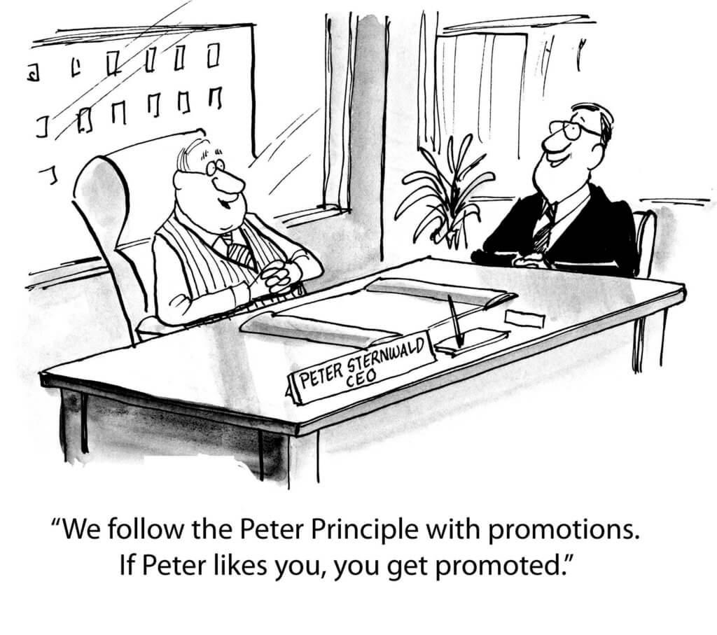 The Peter principle cartoon